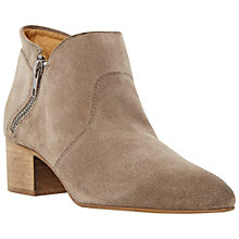 Buy Dune Black Perin Pointed Toe Suede Ankle Boots Online at johnlewis.com