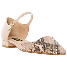 Buy Dune Black Holley Snake Leather Shoes, Blush Online at johnlewis.com