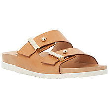 Buy Dune Black Liesel Leather Sandals, Tan Online at johnlewis.com