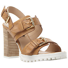Buy Dune Black Jaimie Buckle Strap Leather Sandals Online at johnlewis.com