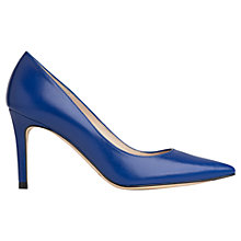 Buy L.K. Bennett Floret Nappa Leather Pointed Court Shoes, Cyan Online at johnlewis.com