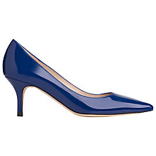 Buy L.K. Bennett Florisa Stiletto Heeled Court Shoes, Cyan Patent Online at johnlewis.com
