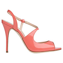 Buy L.K. Bennett Palma Patent Leather High Heel Sandals, Popsicle Online at johnlewis.com
