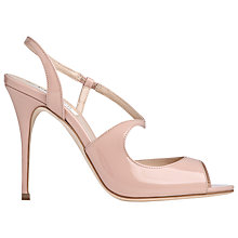 Buy L.K. Bennett Palma Patent Leather High Heel Sandals, Marshmallow Online at johnlewis.com