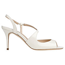 Buy L.K. Bennett Palmita Leather Mid Heel Sandals Online at johnlewis.com