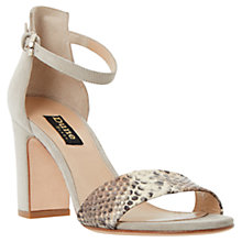 Buy Dune Black May Suede Open Toe High Sandals Online at johnlewis.com