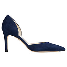 Buy L.K. Bennett Flossie Suede D'Orsay Court Shoes, Denim Online at johnlewis.com
