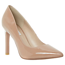 Buy Dune Alwen Pointed Toe Patent Court Shoes, Taupe Online at johnlewis.com