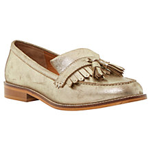 Buy Dune Goosie Fringe Tassel Leather Loafers, Gold Online at johnlewis.com