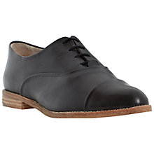 Buy Dune Flobo Leather Casual Brogues, Black Online at johnlewis.com