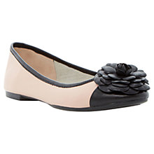 Buy Dune Haeley Corsage Leather Ballerina Pumps, Blush Online at johnlewis.com