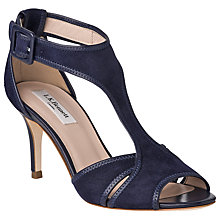 Buy L.K Bennett Cristina Suede Nappa Sandals, Denim Online at johnlewis.com