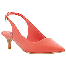 Buy Dune Cathryne Sling Back Leather Court Shoes, Orange Online at johnlewis.com