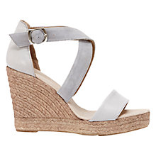 Buy Mint Velvet Lydia Suede Espadrille Wedges, Grey Online at johnlewis.com