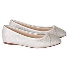 Buy Rainbow Club Hayley Flat Ballet Pumps, Glitter Online at johnlewis.com