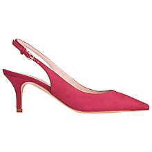 Buy L.K. Bennett Florita Slingback Suede Court Shoes, Pink Online at johnlewis.com