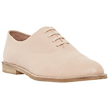 Buy Dune Flobo Leather Casual Brogues, Blush Online at johnlewis.com