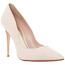 Buy Dune Brooks Extreme Pointed Toe Court Shoes, Blush Online at johnlewis.com