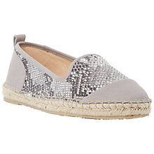 Buy Dune Golled Reptile Print Leather Espadrille Shoe Online at johnlewis.com