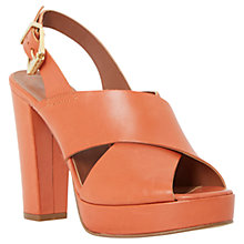 Buy Dune Jaid Block Heel Leather Sandals Online at johnlewis.com