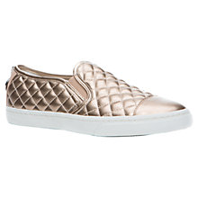 Buy Geox New Club Quilted Trainers, Gold Online at johnlewis.com