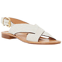 Buy Dune Black Lois Flat Cross Strap Sandals Online at johnlewis.com