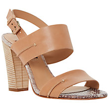 Buy Dune Black Jenifer Block Heeled Sandals Online at johnlewis.com