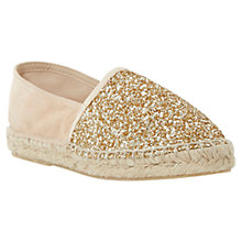 Buy Dune Glitta Glitter Espadrilles, Gold Online at johnlewis.com