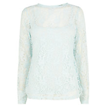 Buy Coast Isabella Lace Top, Mint Online at johnlewis.com