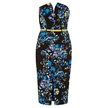 Buy Miss Selfridge Floral Bandeau Dress, Assorted Online at johnlewis.com
