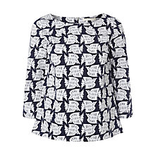 Buy White Stuff Cutout Bird Top, Midnight Online at johnlewis.com