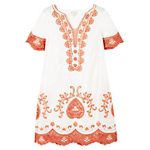 Buy East Lace Applique Cotton Dress, Ivory/Jalapeño Online at johnlewis.com