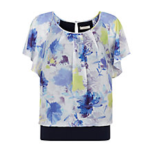 Buy Kaliko Colour Pop Floral Bubble Hem Top, Multi White Online at johnlewis.com