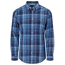 Buy Gant Large Check Poplin Shirt, Indigo Online at johnlewis.com