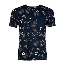 Buy Ted Baker Formala Tropical Print T-Shirt, Navy Online at johnlewis.com