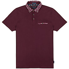Buy Ted Baker Sydnar Printed Collar Polo Shirt Online at johnlewis.com