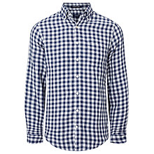 Buy Gant Large Gingham Cotton Shirt, Indigo Blue Online at johnlewis.com