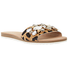 Buy Dune Kreme Pony Jewelled Mule Sandals, Leopard Online at johnlewis.com