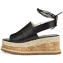 Buy Whistles Rada Leather Flat Sandals Online at johnlewis.com