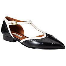 Buy Somerset by Alice Temperley Chelwood Flat Leather Pumps, Black Online at johnlewis.com