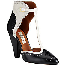 Buy Somerset by Alice Temperley Sandford Leather T-Bar Shoe Boots, Black Online at johnlewis.com