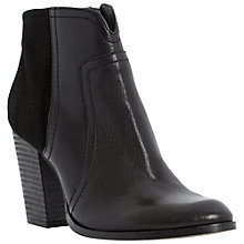 Buy Dune Pollo Leather Block Heel Ankle Boots Online at johnlewis.com
