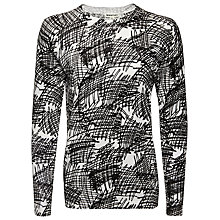 Buy Whistles Scribble Print Jumper, Black/White Online at johnlewis.com