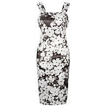 Buy Kaliko Forget Me Not Satin Dress, Multi Grey Online at johnlewis.com