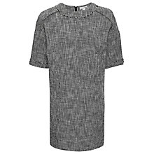 Buy Whistles Textured Tunic Dress, Black/White Online at johnlewis.com