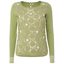 Buy White Stuff Melanitta Jumper, Green Online at johnlewis.com