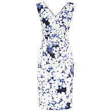 Buy Kaliko Forget Me Not V-Neck Satin Dress, Multi White Online at johnlewis.com