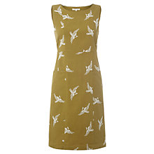 Buy White Stuff Embroidered Swallow Dress, Green Velvet Online at johnlewis.com