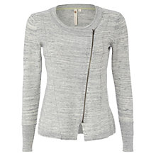Buy White Stuff Patch It Up Cardigan, Light Street Grey Online at johnlewis.com