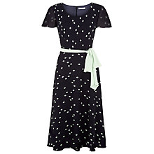 Buy Jacques Vert Printed Fit And Flare Dress, Navy Online at johnlewis.com